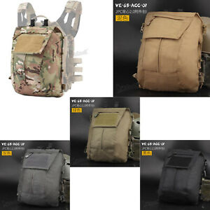 1000D Nylon Tactical Pouch Bag Zip Panel Back Pack Bag for JPC2.0 Tactical Vest