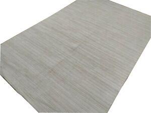 6'x 9' Rug Hand-loom Hand Woven Viscose Cream Area Rug