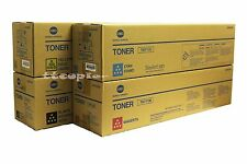 TN711 CMYK Set Genuine Konica Minolta for Bizhub C754 C654 / A3VU-SET/ Lot Of 4