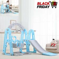 Us 3 In 1 Fun Swing Set Kids Playground Slide Outdoor BackyardSpace Saver Play