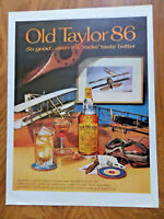 1961 Old Taylor 86 Whiskey Ad Vintage Airplanes Planes Theme