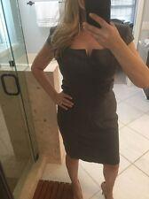 $275 Ted Baker London *Miakod* Wool Blend Sheath Core Gray Suit Dress Sz 4