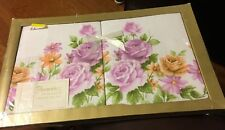 Vintage Riegel Permalux Gift Pillowcases Floral Flowers Gift Pillowcase Set New