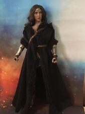 """1/6th Escala Modelo Cape Manto Negro para 12"""" figura femenina cuerpo Figura Muñeca Juguetes"""
