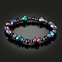 Gewichtsverlust Multicolor Magnetische Armband Perlen Hämatit Stein Therapie Yd