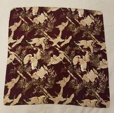 New Silk Scarf Women's Japanese Kimono Fabric Purple Cranes 29 in. Kiteya Soho