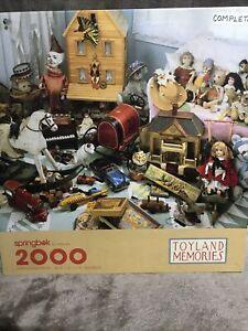 "TOYLAND MEMORIES Springbok 2000 PC Jigsaw Puzzle 34"" x 42"" vintage puzzle"