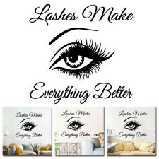 Wall Art Sticker Eyelashes Lashes Extension Decal Beauty Salon Mural Decoration