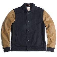 Lucky Brand Men's Wool Blend Lambskin Leather Officer Jacket Coat $399 NEW L