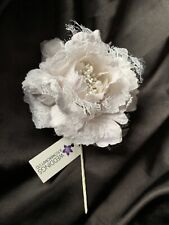 Luxury Pale Ivory Rose Beaded Buttonhole Mother Of The Bride/Groom Wedding Guest