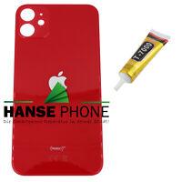 iPhone 11 - Backcover Glas Akkudeckel Back Cover Rückseite Rückglas Rot Red