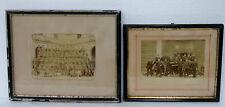 Militaires XIXème Deux photos Infanterie et Artillerie Marseille @