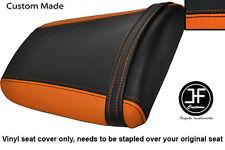 Negro y Naranja Vinilo personalizado para Honda CBR 900 RR Fireblade 93-99 Trasero Seat Cover