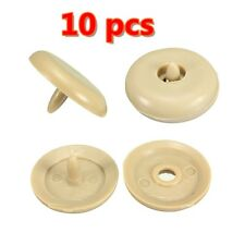 10X Seat Belt Buckle Clips Retainer Seatbelt Stop Button Beige Car Truck SUV US