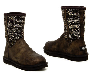 UGG Australia Lyla Sequin Boot Mid Calf NEW in Box 100% Authentic Women's 6