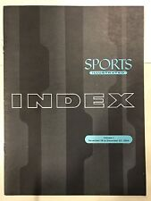 Sports Illustrated Blue Index Vol. 1 Nov. 15- Dec. 27, 1954 RARE