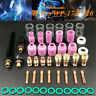 49 Pcs TIG Welding Torch Stubby Gas Lens #10 Pyrex Glass Cup Kit For WP-17/18/26