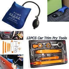 12 Pc Car Audio Dash Panel Removal Trim +Air Pump Wedge Bag Door Unlock Tool kit