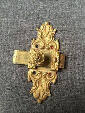Verrou en bronze doré ancien