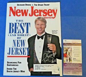PHIL SIMMS SIGNED New Jersey Magazine  ~ JSA Q22874 ~ NY GIANTS NFL FOOTBALL ~