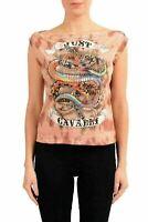 Just Cavalli Women's Graphic Designed Sleeveless T-Shirt US S IT 40