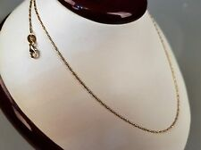 Halskette 18 Karat Kette Collier 750-er Gelb-Weißgold L 42 cm Bicolor Gold