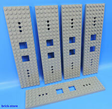 LEGO®  Nr- 6077826 / 6x24 Eisenbahn Waggon Platte dunkelgrau  / 5 Stück