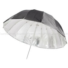 Black/Silver Parabolic Umbrella High Quality Durable Brolly Studio Essential