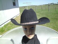 UNISEX PIGALLE XXXXX COLLECTION COWBOY WESTERN HAT W/BAND  SIZE 7.25  GREAT COND