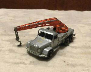 Vintage LESNEY MATCHBOX Silver Crane Truck Magirus Deutz No. 30