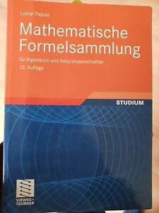 Mathematische Formelsammlung von Lothar Papula (2009, Taschenbuch)