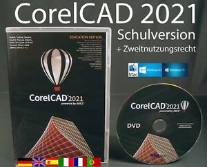 CorelCAD 2021 Vollversion Box + CD 2D/3D Cad-Software Schulversion OVP NEU