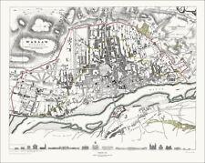 Warsaw, Poland in 1831, town plan