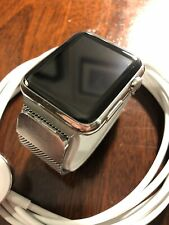 Apple Watch 42mm Stainless Steel Case Black Milanese Loop Strap