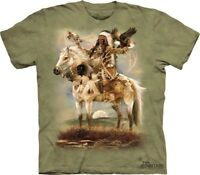 Spirit T-Shirt by The Mountain. Native American Indian Horse Sizes S-5XL NEW
