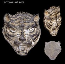 RARE Tiger Face LP Pern Wat Bangpra Thai Buddha Amulet with case Power luck 02