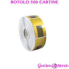 CARTINE RICOSTRUZIONE UNGHIE GEL UV ACRILICO 500 PZ PROFESSIONALE PER ESTETISTA
