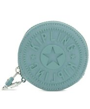 Kipling Marguerite Zip Pouch Coin Purse with Clip NWT Aqua Frost