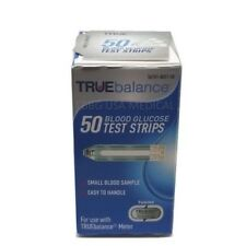 TRUEbalance Blood Glucose Test Strips 50 Count EXP 2020+ , Free Shipping