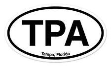 "TPA Tampa Florida Oval car window bumper sticker decal 5"" x 3"""
