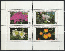 Bernera Islands 1982 Souvenir sheet of 4 MNH stamps FLOWERS **Luxus