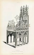 """Shaw's """"Dresses & Decorations"""" - """"SILVER CHAIR IN BARCELONA"""" - Hand-Col'd-1843"""
