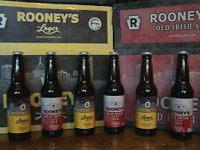 PITTSBURGH BREWING CO ROONEY BEER, LAGER & OLD IRISH ALE, 2 GLASS BOTTLES W/CAPS
