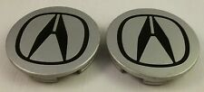 Acura Wheels Silver Custom Wheel Center Cap Caps Set of 2 # 4732-S6M-00
