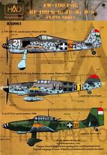 Hungarian Aero Decals 1/48 GERMAN AIRCRAFT in Hungarian WWII Air Force Service