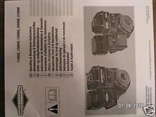 BRIGGS & STRATTON SMALL OHV ENGINE OPERATOR'S MANUAL MODEL#110000/120000/150000