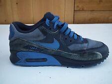 Nike AIR MAX 90 VINTAGE RARE BOYS BLU/NERO/GRIGIO Scarpe da ginnastica UK5.5 EU38.5