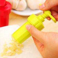 Plastic Garlic Presses Crusher Masher Kitchen Slicer Squeezer Cleaning Tool New