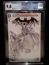 CGC 9.8 Batman # 47 Alex Ross Sketch Variant New 52 NM/MT