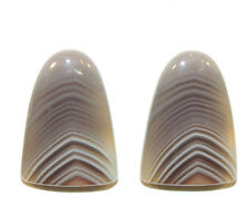 Botswana Agate Free Form 20x14mm Cabochon set of 2 (9404)